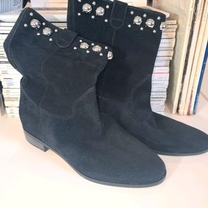 Michael Kors Suede Studded Ankle Booties